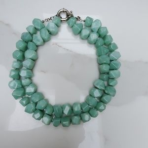 Double-strand Jade necklace